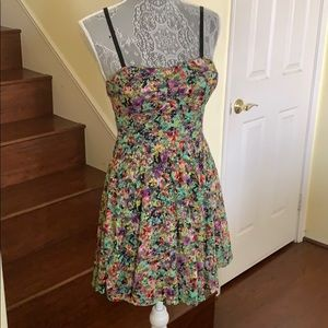 Material Girl Neon Floral Dress